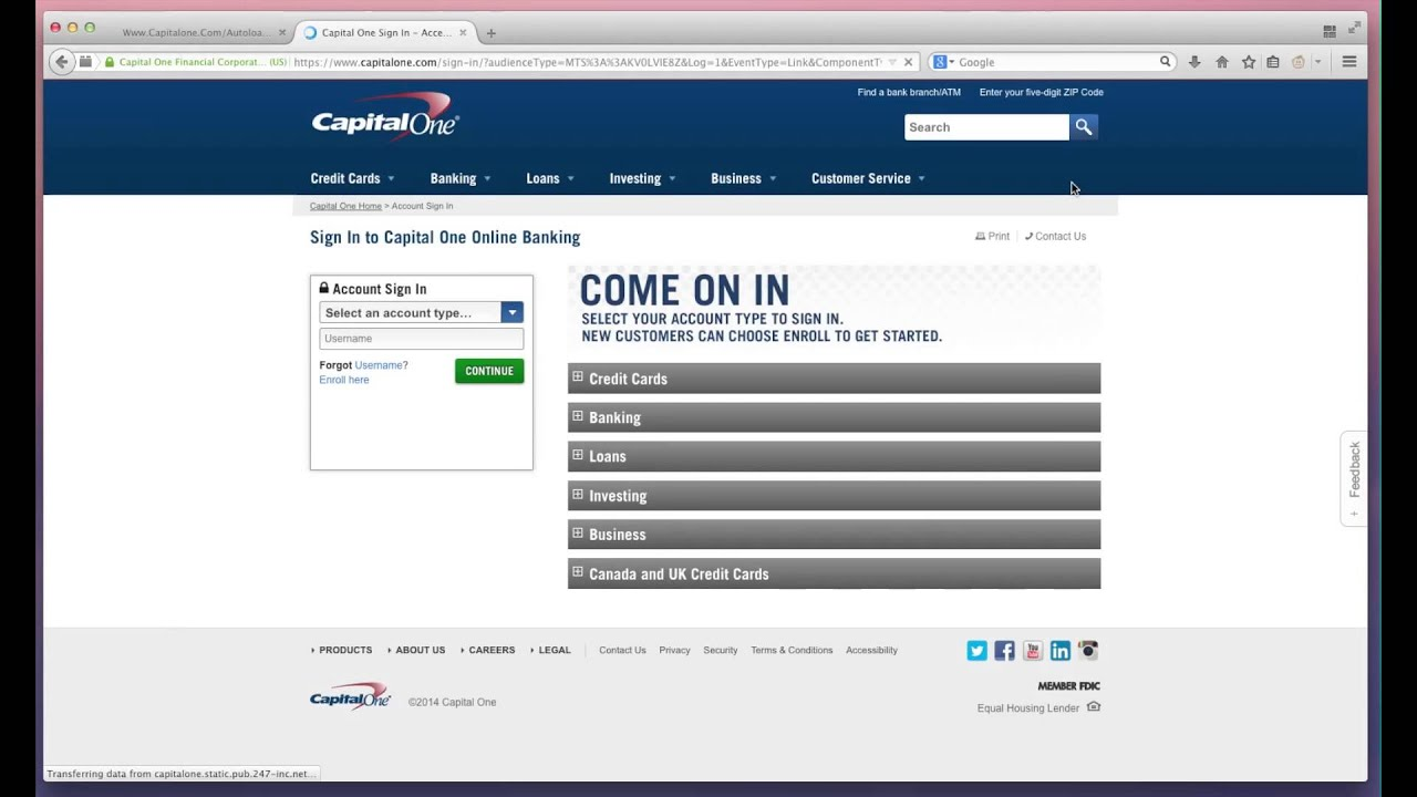 Make Capital One Credit Card Payment