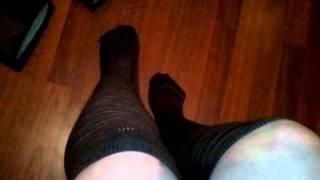 Womens WELL WORN cotton USED Knee High Socks SUPER soft