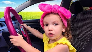 We are in the Car Wheels On The Bus Song Nursery Rhymes & Kids Songs