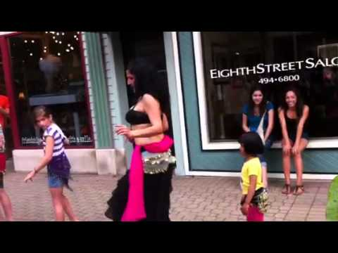 Dhruthi belly dancing @ downtown holland