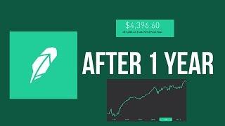 Robinhood After 1 Year! Robinhood Investing App Progress
