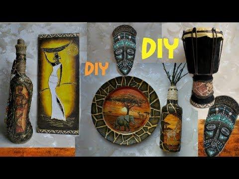 Африканская тематика-МЕГА мастер-класс!  #DIY #Африканскийдекор #DIYмаскаизкартона