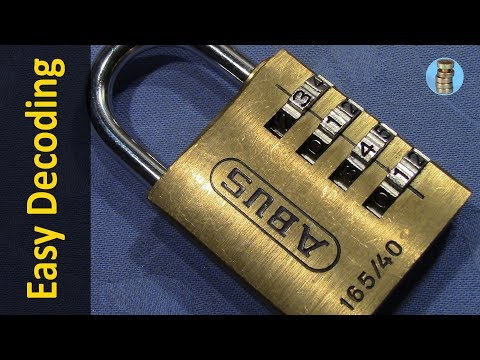 (picking 115) ABUS 165/40 4-wheel combination lock decoded [false gates] - reliable, simple & quick