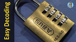 (picking 115) ABUS 165/40 4-wheel combination lock decoded [false gates] - reliable, simple & quick thumbnail