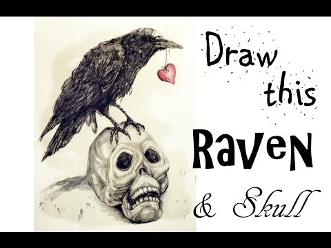 Draw A Raven and Skull | Art Journal