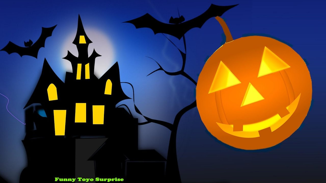 Halloween Haunted House Songs Children Elsa Skeletons Witch Ghost Monster Zombie Vampire Cartoon