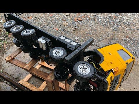 How to clean wash truck 1.14 Rc truck hino700 | Rửa xe điều khiển từ xa