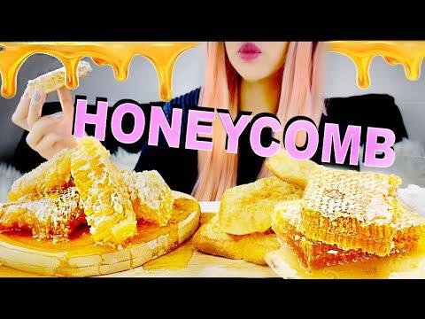 ASMR Honey comb & Crumpets *Binaural Eating Sounds* No talking