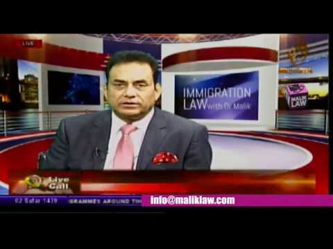 Noor TV Immigration Law with Dr Malik 21 October 2017