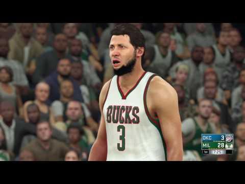 NBA 2K17 Oklahoma City Thunder VS MILWAUKEE BUCKS