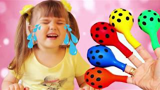 Learn Colors with Balloons Baby Crying  Nursery Rhymes Song for kids Finger family
