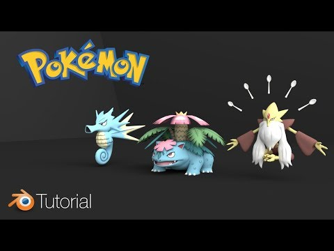 [2.79] Blender Tutorial: 3D Pokemon Importing And Rendering (Easy)