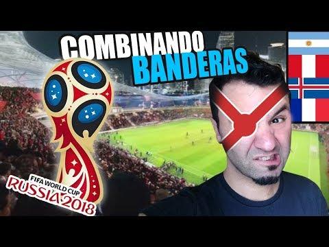 COMBINANDO BANDERAS MUNDIAL RUSIA 2018 - Grupo C Y D