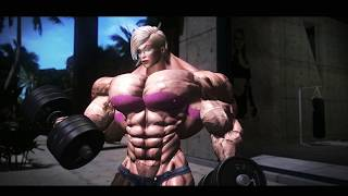 3D Female Muscle Animation 4K