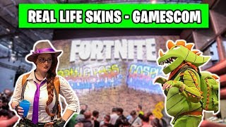 Fortnite REALLIFE Skins and Dances - Gamescom 2018 Cosplay