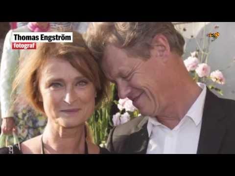 Lena Endre har gift sig med kärleken Martin