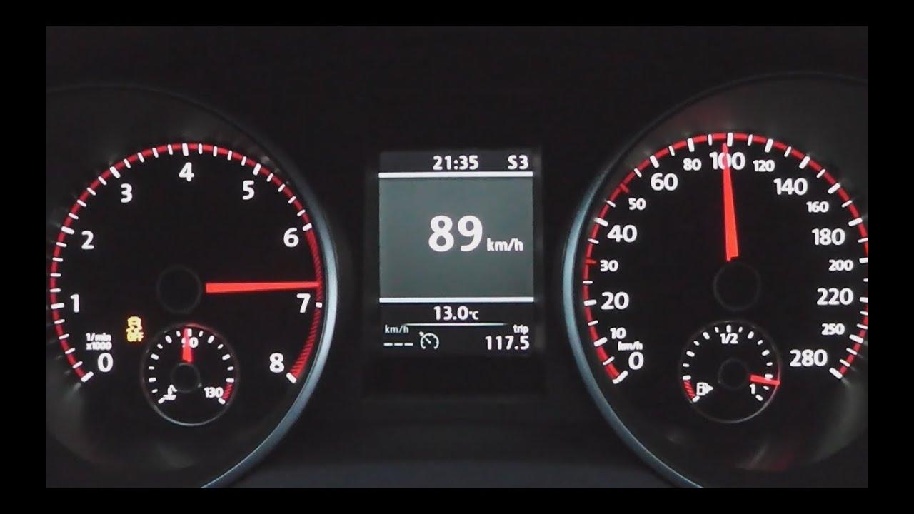 2012 Volkswagen Golf VI GTI 211 HP 0100 kmh Acceleration  YouTube