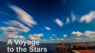 A Voyage to the Stars - 4K Timelapse of a Container Ship under Starry Night | Life at Sea