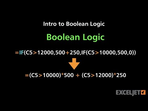 How to use boolean logic in Excel formulas