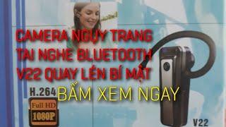 camera ngụy trang tai nghe bluetooth V22 quay lén bí mật - camera ngụy trang - camera siêu nhỏ