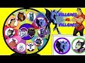 MY LITTLE PONY VILLAINS vs DISNEY VILLAINS Spinning Wheel Game Punch Box Toy Surprises