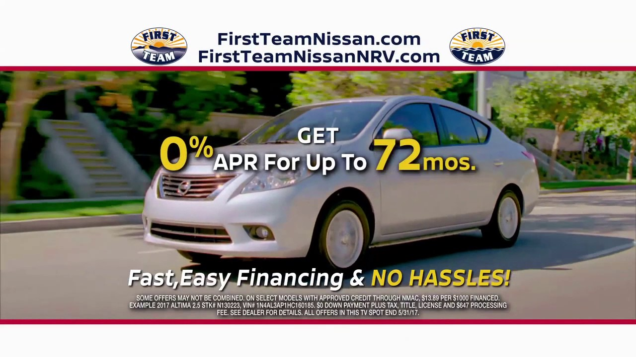 first team nissan zero percent apr for 72 months youtube. Black Bedroom Furniture Sets. Home Design Ideas