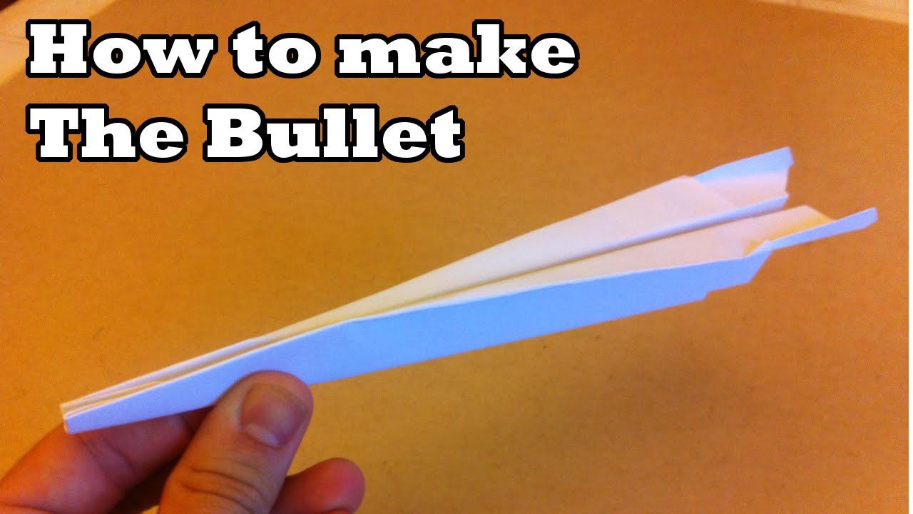 let u0026 39 s make  the bullet paper plane