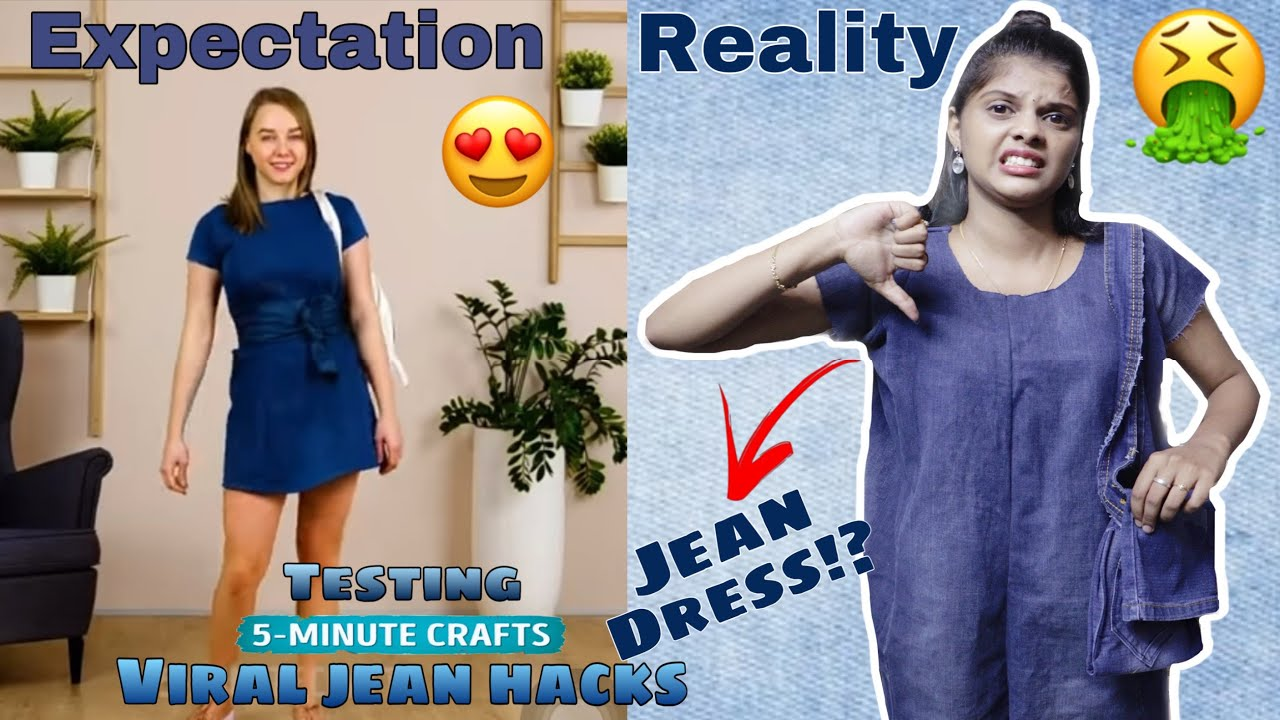 TESTING OUT VIRAL JEAN HACKS👖 by 5 Minute Crafts|*Giveaway RESULT*❤️[TAMIL]