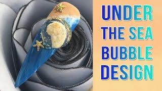 Under The Sea Globe Nail Design Using Bubble Rose Technique