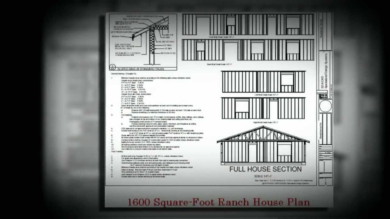 1600 sq ft ranch house plan a low cost house plan youtube for 1600 sq ft house cost