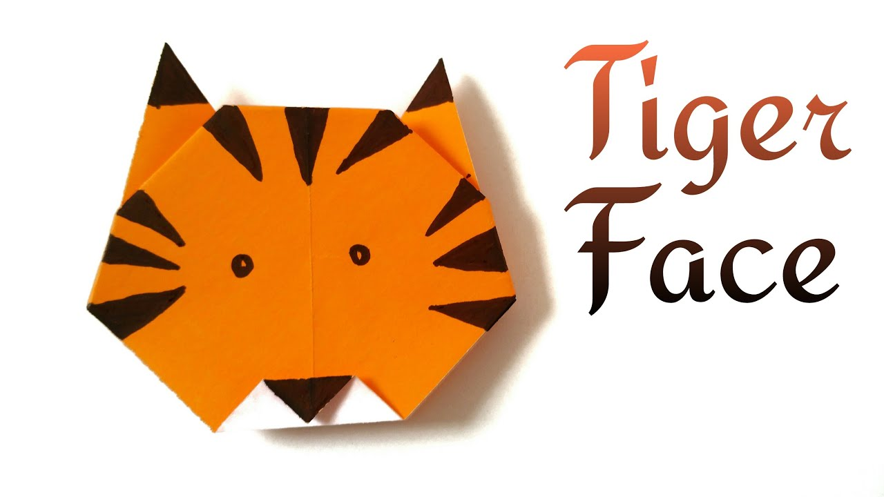How To Make An Easy Paper Tiger Face Shere Khan Of Jungle Book