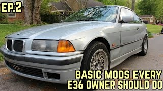 BASIC MODS EVERY E36 OWNER SHOULD DO! : Mikey's BMW E36 323i Drift Build Ep.2