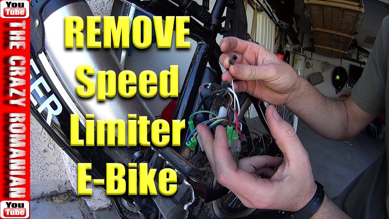 How To Remove Speed Limiter Chinese Electric Bicycle Ancheer Youtube Full Bike Pato Fx 4