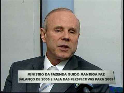 Ministro da Fazenda Guido Mantega faz balanço de 2008