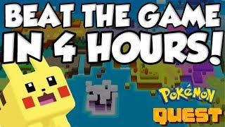 YOU CAN BEAT POKEMON QUEST IN 4 HOURS?!?!