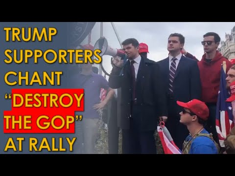 """Trump Supporters and Nick Fuentes chant """"DESTROY THE GOP"""" at Trump DC Rally"""