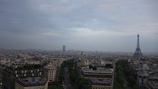 (4K)2014.フランス・パリ旅行記19 - 凱旋門から眺めるパリの街並み