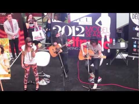 """""""Shut Up and Kiss me"""" Live at the Girlfriend Magazine model search 2012"""