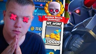 EASY 12 WIN! Pekka-Ram Deck for Sudden Death Challenge! - Clash Royale