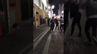 japanese fight in the street