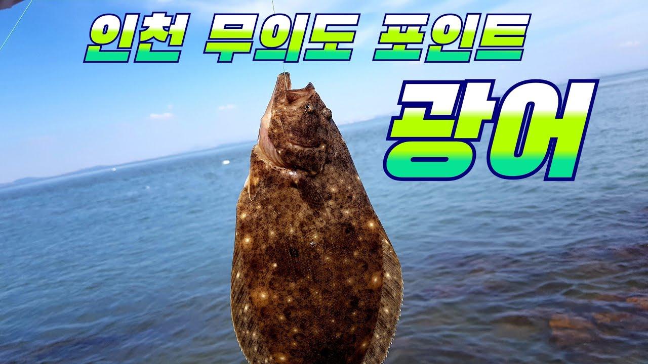 인천 무의도 광어낚시 루어를 조류에 흘려보자