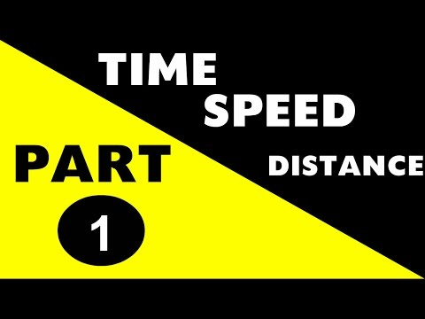 Time , Speed and Distance PART 1 (SSC CGL , Railway , Bank PO and other govt exams)