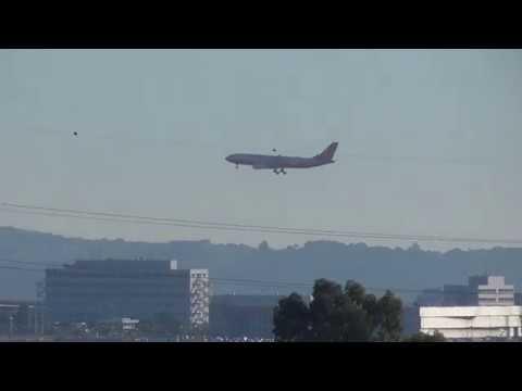 Turkish President Erdoğan Airbus A-330 landing at Athens El. Venizelos Airport