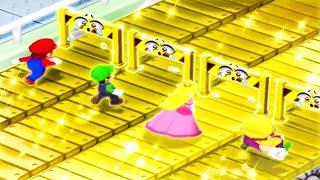 Mario Party 7 MiniGames - Mario Vs Wario Vs Luigi Vs Peach (Master Cpu)