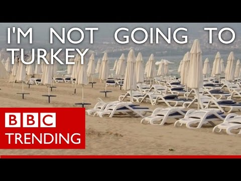 Russians vow to leave Turkey's beaches empty - BBC Trending