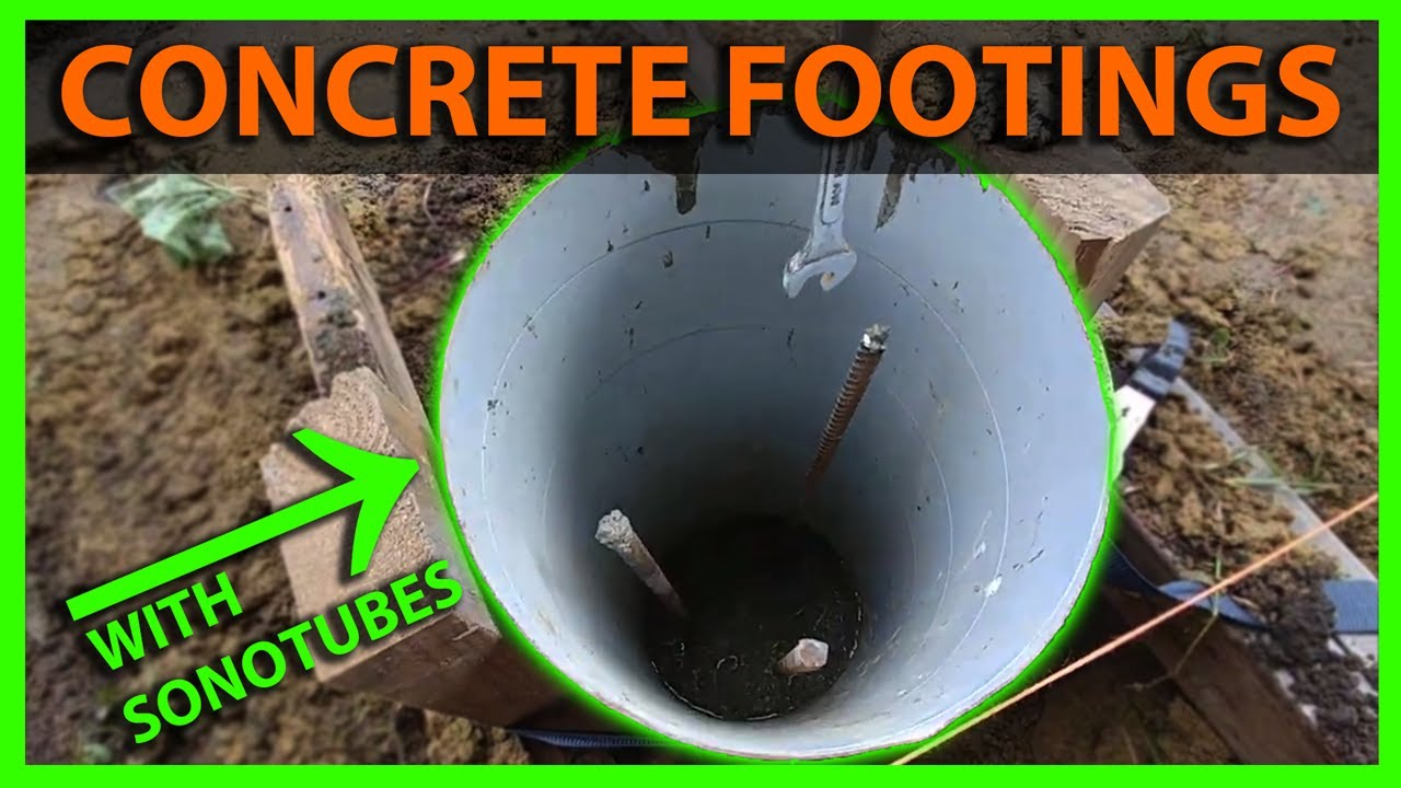 Concrete Tube Forms How To Pour Concrete Footings With Piers Using Sonotubes