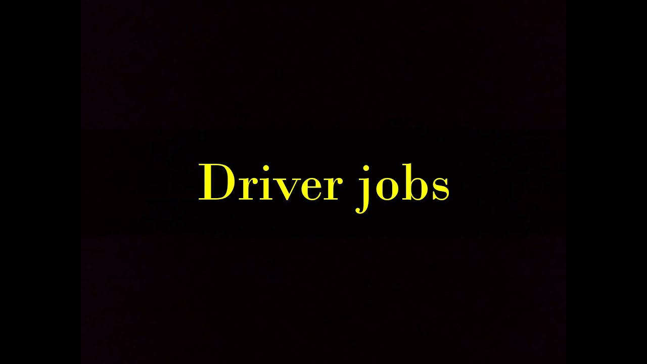 Driver Jobs In Port St Lucie Youtube