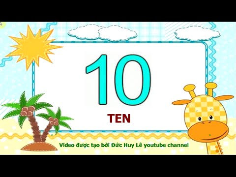 Video dạy bé học số tiếng Anh