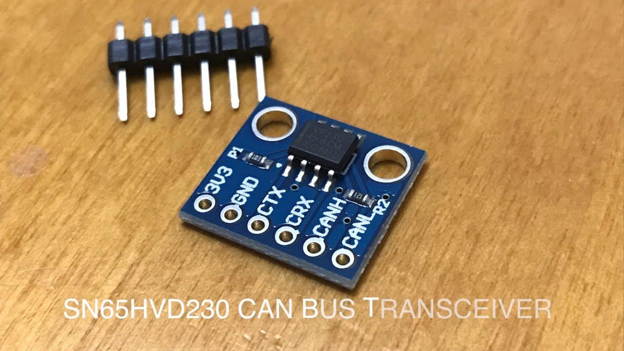 SN65HVD230 CAN bus transceiver