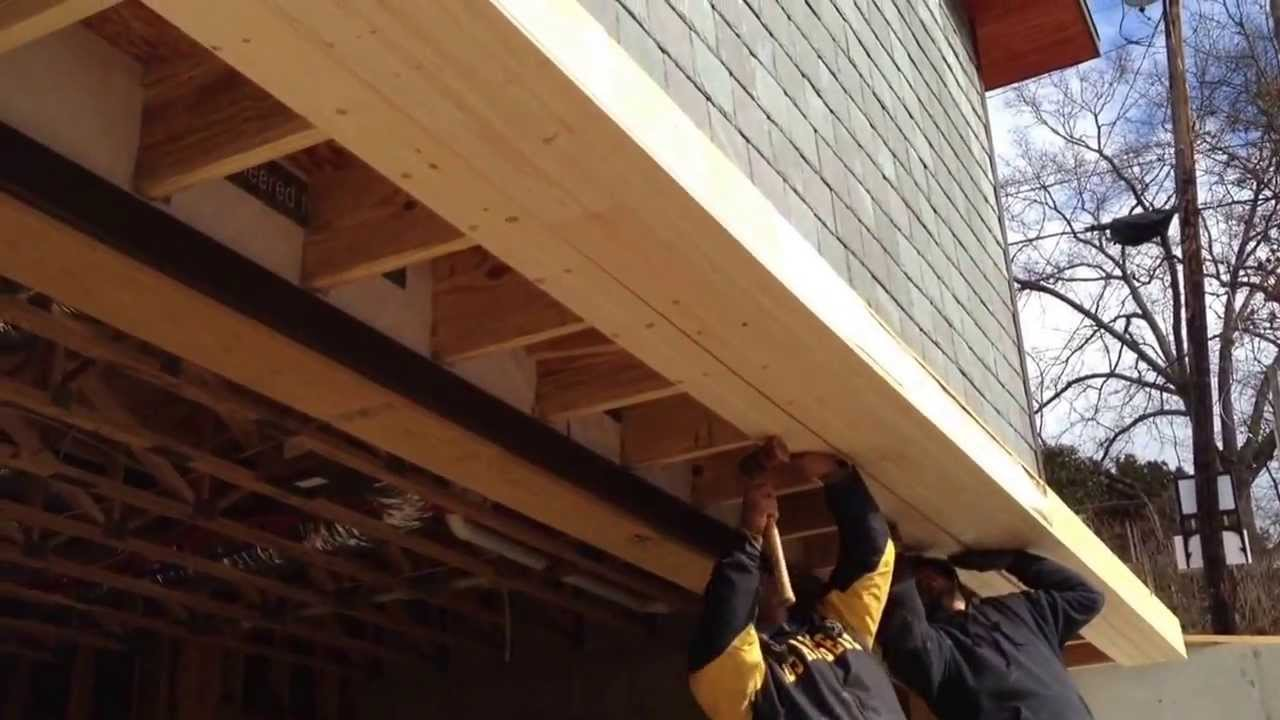 Building A Roof Over The Garage Door Youtube